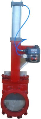 PNEUMATICALLY OPERATED KNIFE GATE VALVE