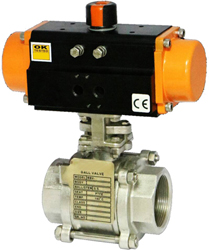 pneumatically operated ball valves